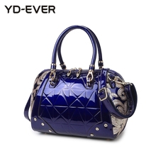 new patent leather women handbag brand shoulder bag luxury fashion tote Clutch Sequins design patent messenger bag 37