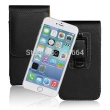 New Design Leather Vertical Phone Cases Holster Loop Magnetic Pouch with Belt Clip For iPhone 4 4S 5 5S 6 4.7 6 Plus 5.5 inch
