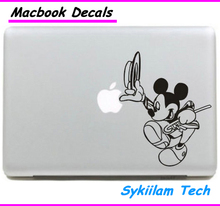 Cartoon for Mickey Mouse Gentility Sticker for apple Macbook Skin Air 11 12 13 Pro 13 15 17 Retina Decal Loptop Wall Vinyl Logo