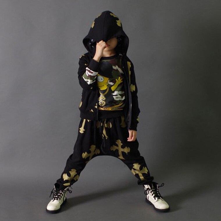 New fashion hiphop childrens clothing set dance wear Costumes streetwear kids sport suits Hip Hop harem pants &amp; sweatshirt jazz<br><br>Aliexpress
