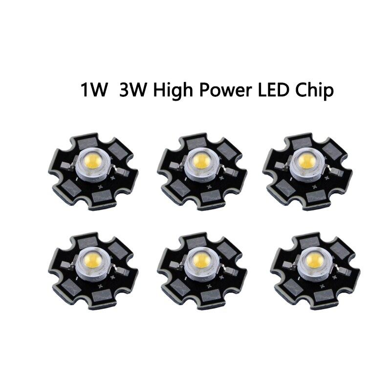 50PCS 3W High Power Neutra White LED Light Emitter 4000K with 20mm Heatsink
