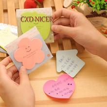 Star Lovely Heart Shape Memo Pad Cute Kawaii Self-Adhesive Sticker Bookmark Tab Flags School Supllies Post It Note Dd1132