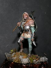 Assembly  Unpainted  Scale 1/24  75mm German mercenary fantasy  figure Historical WWII Resin Model Free Shipping
