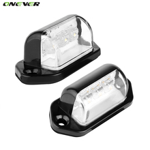 1 Pair 12V 3LEDs Number Licence Plate Light Rear Tail Lamp Truck Trailer Lorry Auto Lights White for Ford BMW Toyota Volkswagen(China)