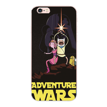 ADVENTURE TIME STAR WARS cover For Samsung galaxy s3 s4 s5 s6 s7 edge g9300 iphone 6s 7 plus 4 4s 5 5s 5c SE 6 Hard shell