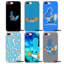 cute cartoon anime pokemon Mudkip Apple iPhone X 4 4S 5 5S SE 5C 6 6S 7 8 Plus 6sPlus 6Plus 7plus 8plus Silicone Phone Cover