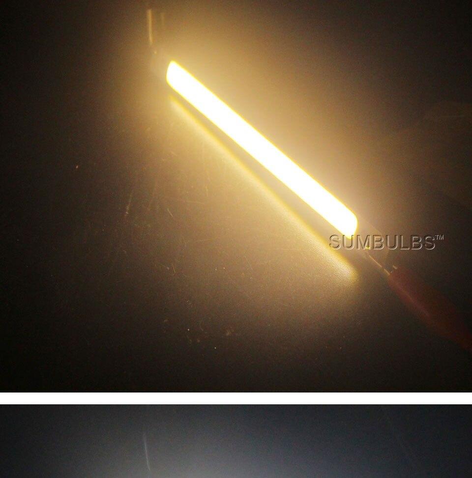 120mm 12v 10w 1000LM cob led light strip chip bulb lamp red blue white (9)