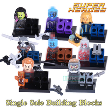 Building Blocks Star-Lord Nebula Yondu Drax the Destryer Guardians of the Galaxy Figures Super Hero Bricks Kids DIY Toys Hobbies(China)