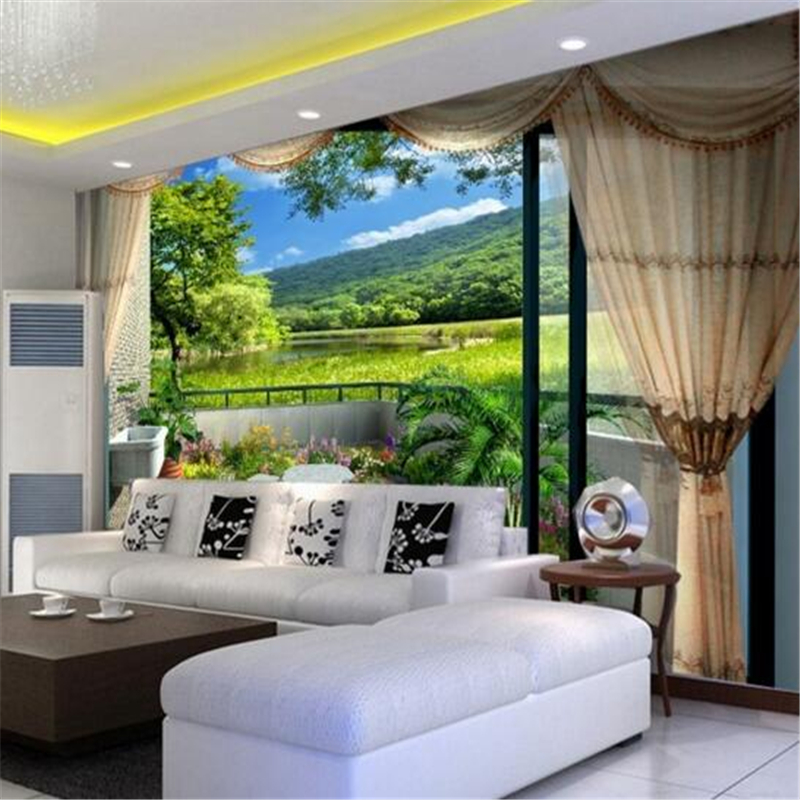 papel de parede Custom 3d mural wallpapers visual start green grass fashion simple style bedroom 3d living room photo wallpaper<br><br>Aliexpress