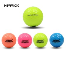 Golf ball Lady Game colour ball two Layers High quality Far away better stability(China)