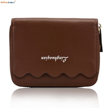 2017 New Fashion Design Women Candy Colors Sweet Mini Pu Leather Wallet Ladies Clutch Female Function Money Card Purse Jan5
