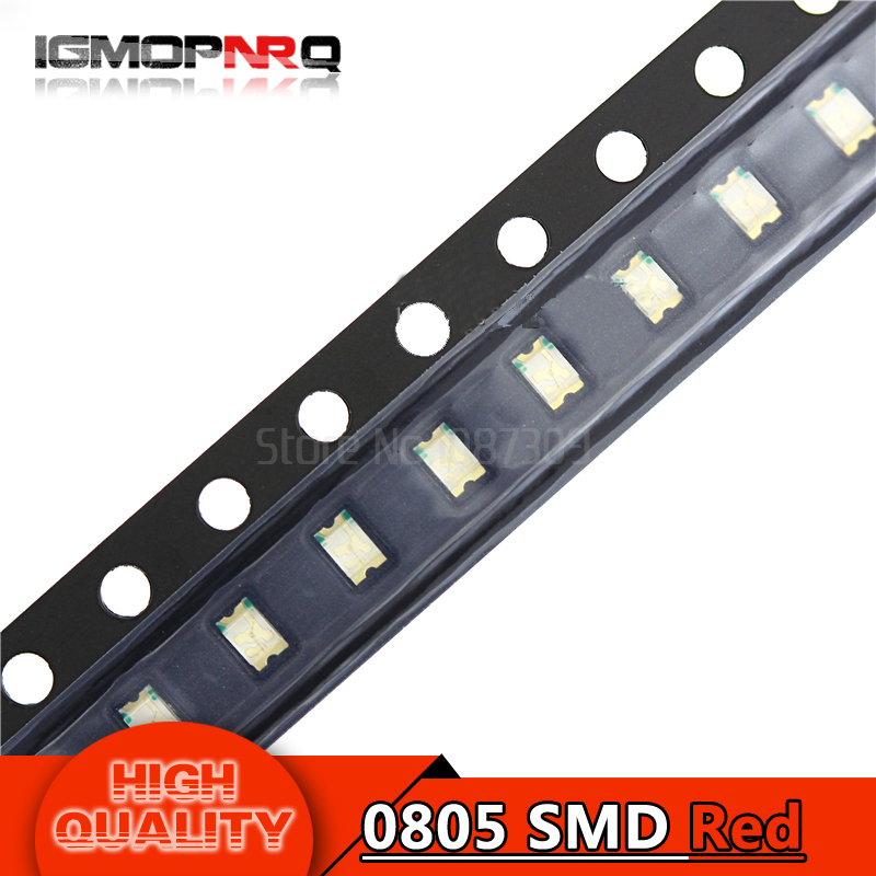 100pcs Red 0805 SMD LED diodes light(China)