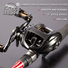 Lizard Fishing Right or Left Baitcasting Reel 11BBs 6.3:1 Bait Casting Fishing Reel High Speed with Magnetic Brake System
