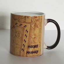 Drop shipping Marauder Map Color Changing Coffee Mug Magic heat sensitive Tea Cup Mugs for friends(China)