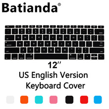 Silicone US layout Waterproof Keyboard Cover Film For New Macbook 12 retina keyboard Stickers/2016 Pro 13 with Retina A1708
