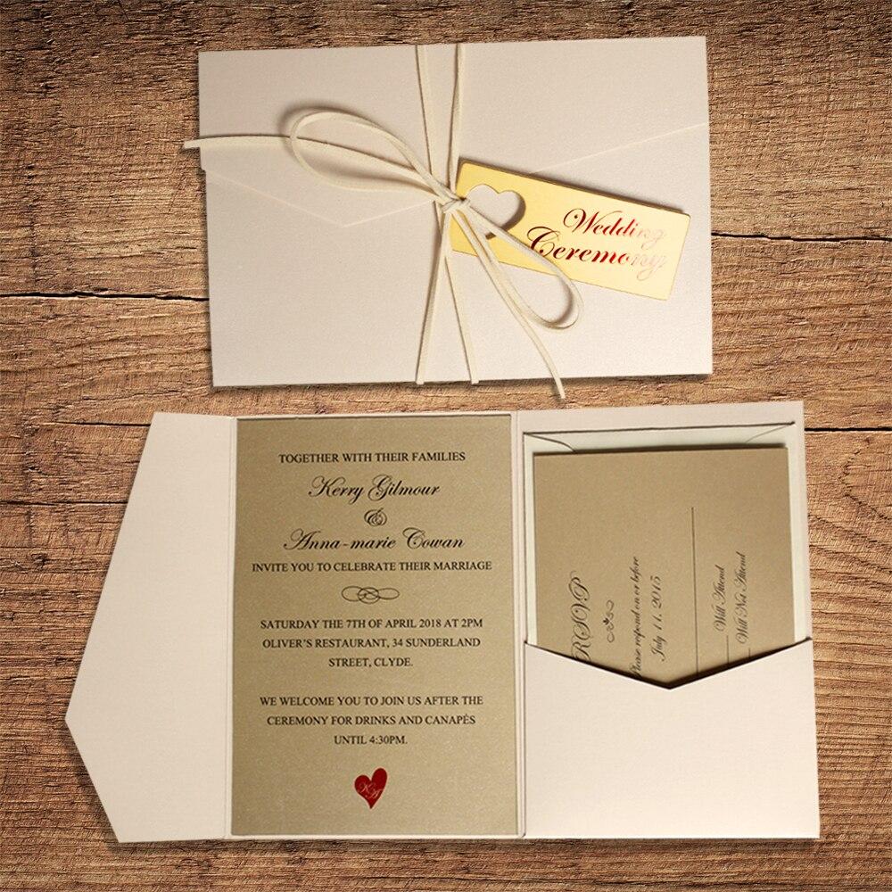 Mutiara Putih Saku Undangan Kartu Undangan Pernikahan dengan Emas ...