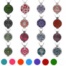 1pcs Aroma Diffuser Necklace Open Vintage Silver Lockets Pendant Perfume Essential Oil Aromatherapy Locket Necklace With Pads(China)