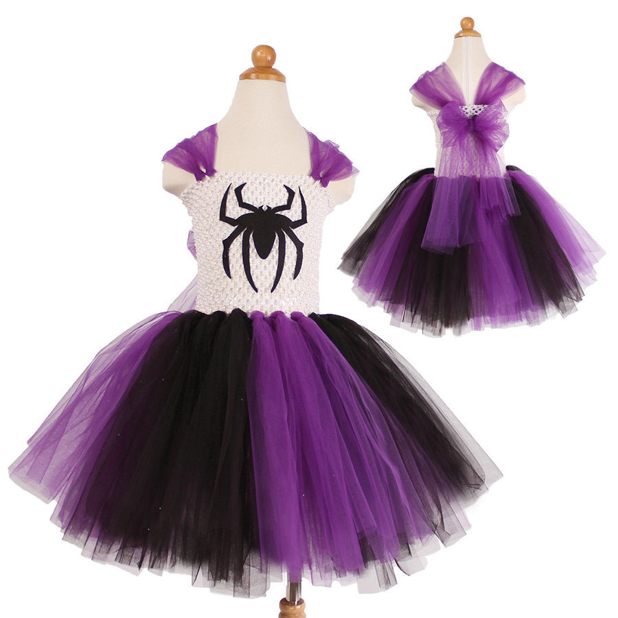 high quality handmade tutu party dresses for little girls purple spider girl costume<br><br>Aliexpress