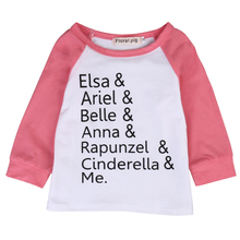 Fashion 2017  Kids Baby Girls T-shirt Long Sleeve Letter Printed Tops Casual Cotton Outfits Clothes