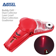 Buddy Drill Dust Collector with Laser Level-Cool DIY & Picture Hanging Tool Kit with Dust Collection System gradienter