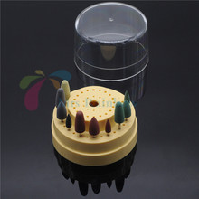 Sale Dental Bur CASE Holder (60 Holes) And 10Pcs Silicone Rubber polishers Diamond(China)