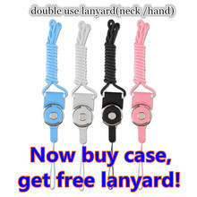 buy one case get free cell phone case neck hand lanyard for iphone 5 5s 6 6s plus 7 7P Chain Straps Camera Hang Rope