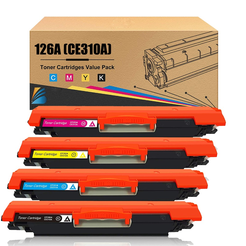 Bosumon Compatible Toner Cartridge for hp 126A CE310A CE311A CE312A CE313A CP1025 CP1025n WM175A M175n  Laserjet Printer
