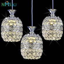 Modern LED Iron Crystal Pendant Light Creative Simple Style Living Room Dining Room Lamp Bedroom