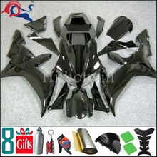 ABS Plastic Fairing For yamaha 2002 2003 YZFR1 YZF-R1 2003 2002 all pure Black Bodywork Plastic Set Fit for YZF R1 2002 2003 Y(China)