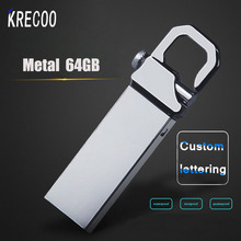 KRECOO Waterproof Metal  Pen Drive  64GB 32GB  Usb Flash Drives 16GB 8GB 4GB High Speed Memory Disk  Panic Buying Usb Drive Gift