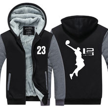 2016 Cool Man Hoodie LeBron James Boy Jacket Men Long SleeveThicken Fleece Zipper Tops Male Hot Sale USA EU size Plus size