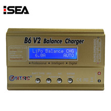 HTRC B6 V2 80W Professional  Digital Battery Balance Charger Discharger for LiHV LiPo LiIon LiFe NiCd NiMH PB Battery Charging