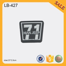LB427 Factory Sale Custom design garment 3D soft pvc labels 3D rubber patch