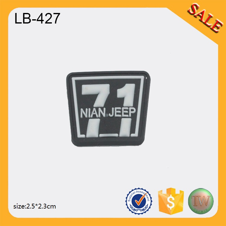 LB427 Factory Sale Custom design garment 3D soft pvc labels 3D rubber patch(China)