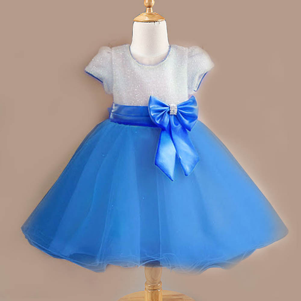 Princess Baby Girls Multi-Color Solid Wedding Tutu DressBow Tulle Pageant Dress<br><br>Aliexpress