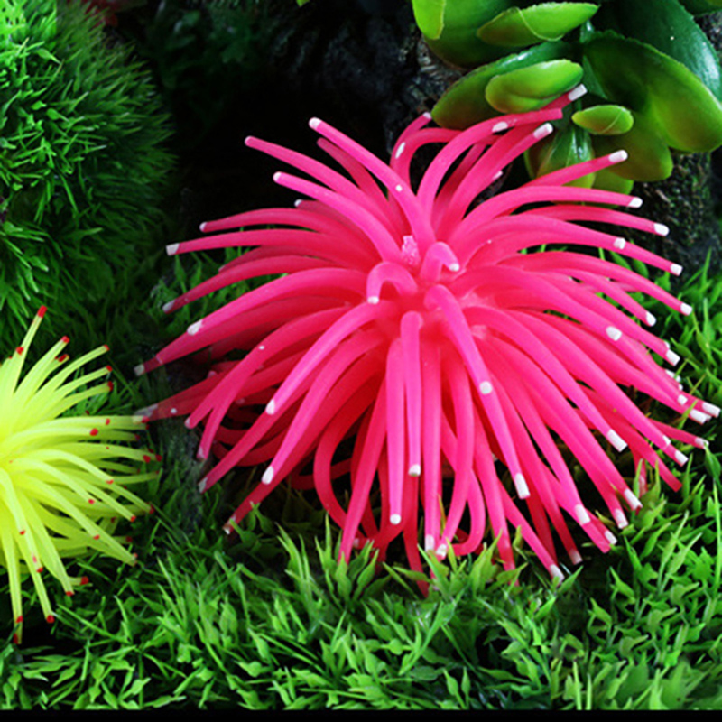 2016 New Style Soft Colorful Artificial Silicone Coral Fish Tank Aquarium Decoration Best Home Ornament G01548(China (Mainland))
