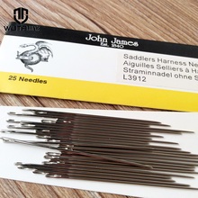 WUTA 25 John James Saddlers Harness Needles Round-pointed Needle Leather Hand Sewing Blunt 7Size Leathercraft Sewing Accessories(China)