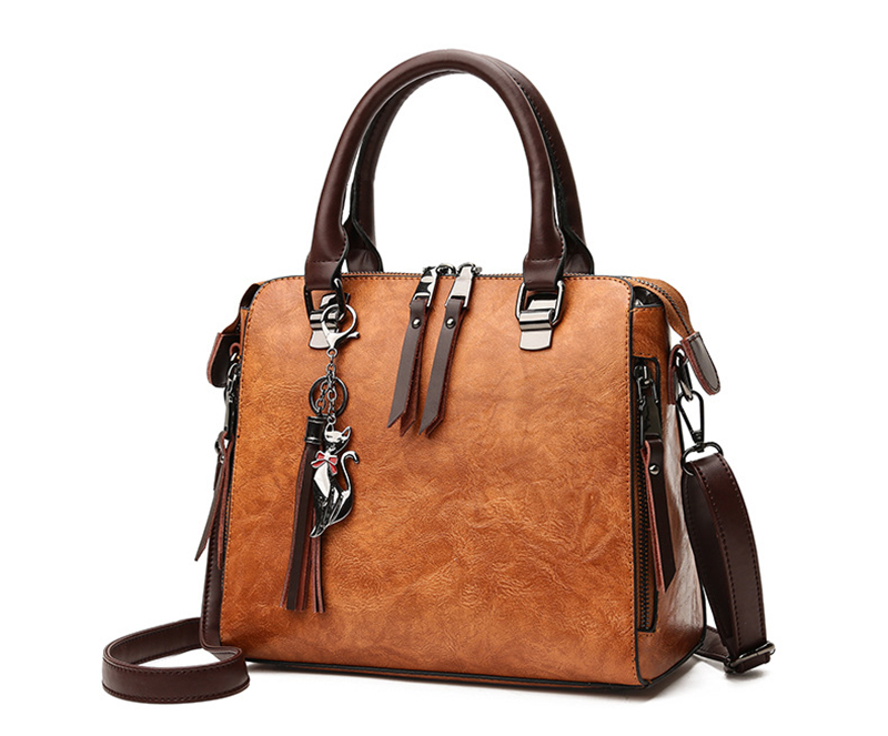 pure leather bag front 1