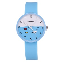 New Fashion ulzzang Children Watch Girls Cute Cartoon Soft Junior High School Students Students Small Fresh Watches Lady Clock(China)