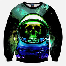 Space Galaxy Skull 3D Print Black Sweatshirts Men/Women Hoodies Pullover Fashion Hoody Tops Plus Size S-XL