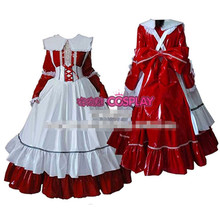 Hot Sale Custom Made Long Sleeve Princess Japanese Maid Outfit Dress Cosplay Party Set Apron Costume