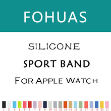 fohuas new Silicon Sports Band Strap 38mm For Apple Watch Accessory Wristband Replacement 42mm link Bracelet Series 1 Series 2
