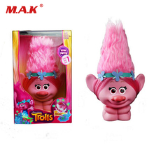 Movie Trolls Town Poppy Action Figure Toys With Light Touch to Glow Anime Figures Hair Up Gift Toys For Children(China)