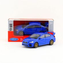 Welly Diecast Model/No Scale/Impreza WRC Racing Car toy/Pull Back Educational Collection/for children's gift