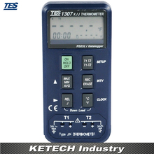 TES1307 Data logging K/J Dual Channel Industrial Thermometer(China)