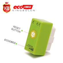 New Power Prog With Reset Button ECOOBD2 Benzine Car Chip Tuning Box Plug And Drive ECO OBD2 Save Fuel For Petrol Cars
