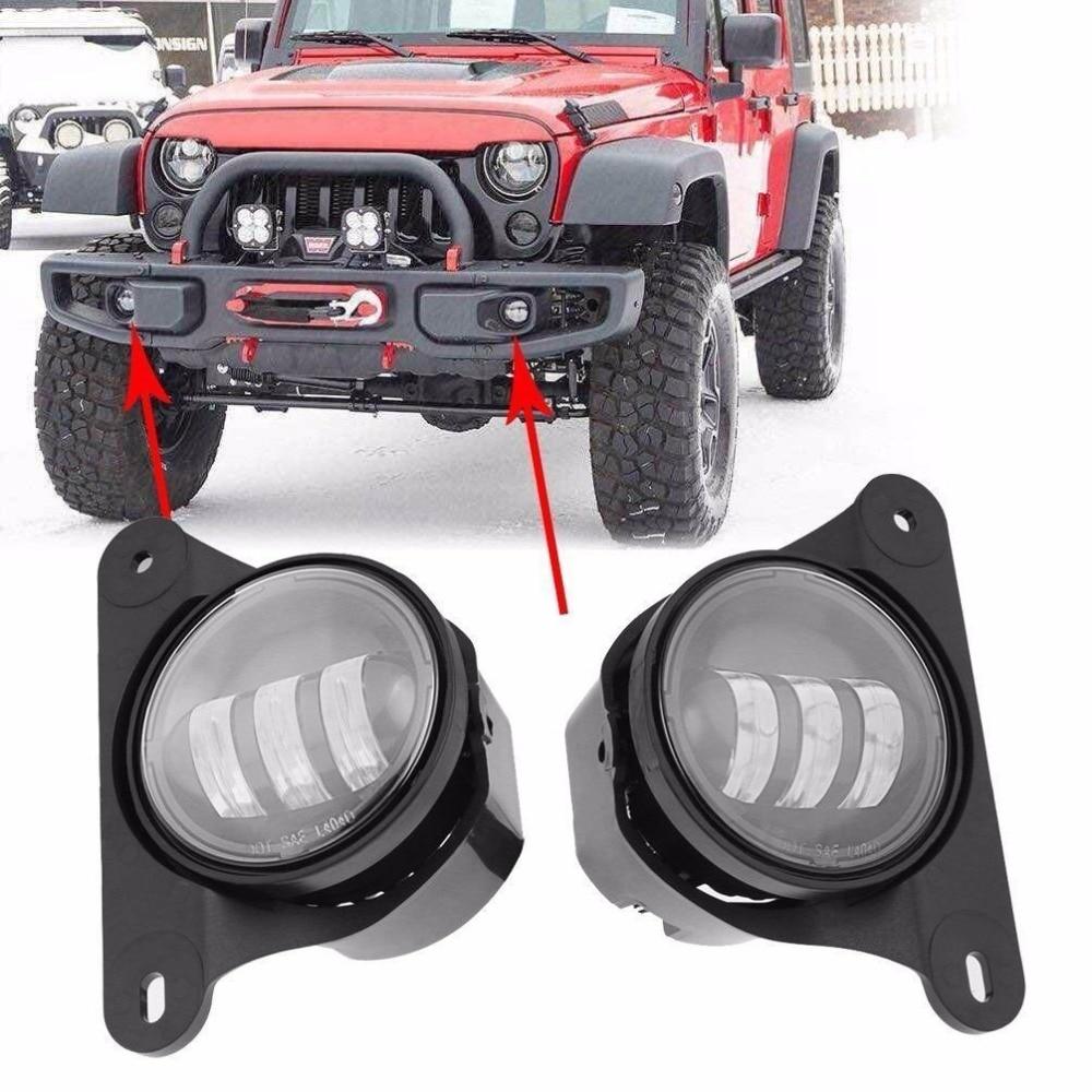 30w led fog lights for  jeep wrangler jk 10th anniversary front bumper Led lights<br>