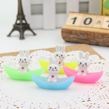 4Pcs Kawaii rabbit ship luminous rubber eraser kawaii creative stationery school supplies papelaria gifts for kids