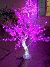 Free ship 3.3ft 1M LED Christmas New year party holiday LED Light Crystal Cherry Blossom Tree Pink Color waterproof Home decor