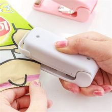 Pink Mini Sealing Machine Sealer Food Saver Plastic Bag Capper Hand Pressure Hot Magic Sealer Without Battery